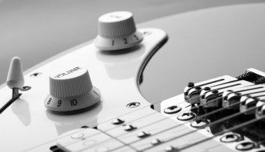 Knob on an electric guitar