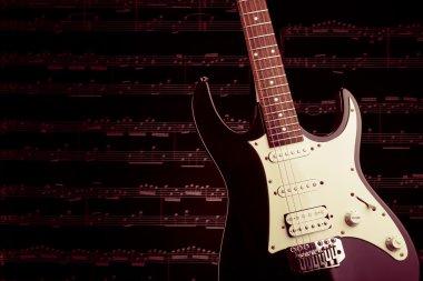 Electric guitar closeup picture
