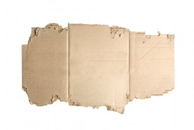Brown corrugated cardboard torn