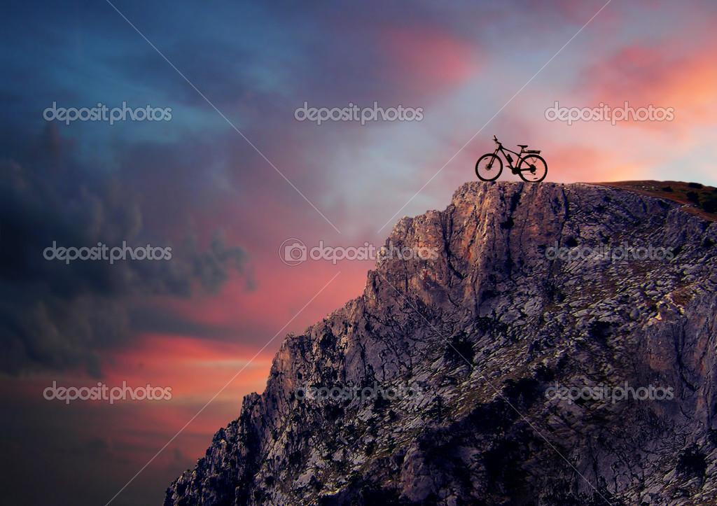 Mountain bike in mountains