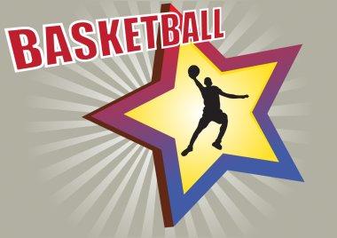 Basketball star background
