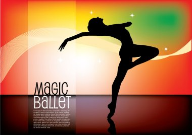 Dancer on magic background