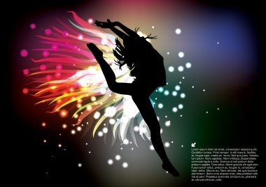 Woman dancer silhouette