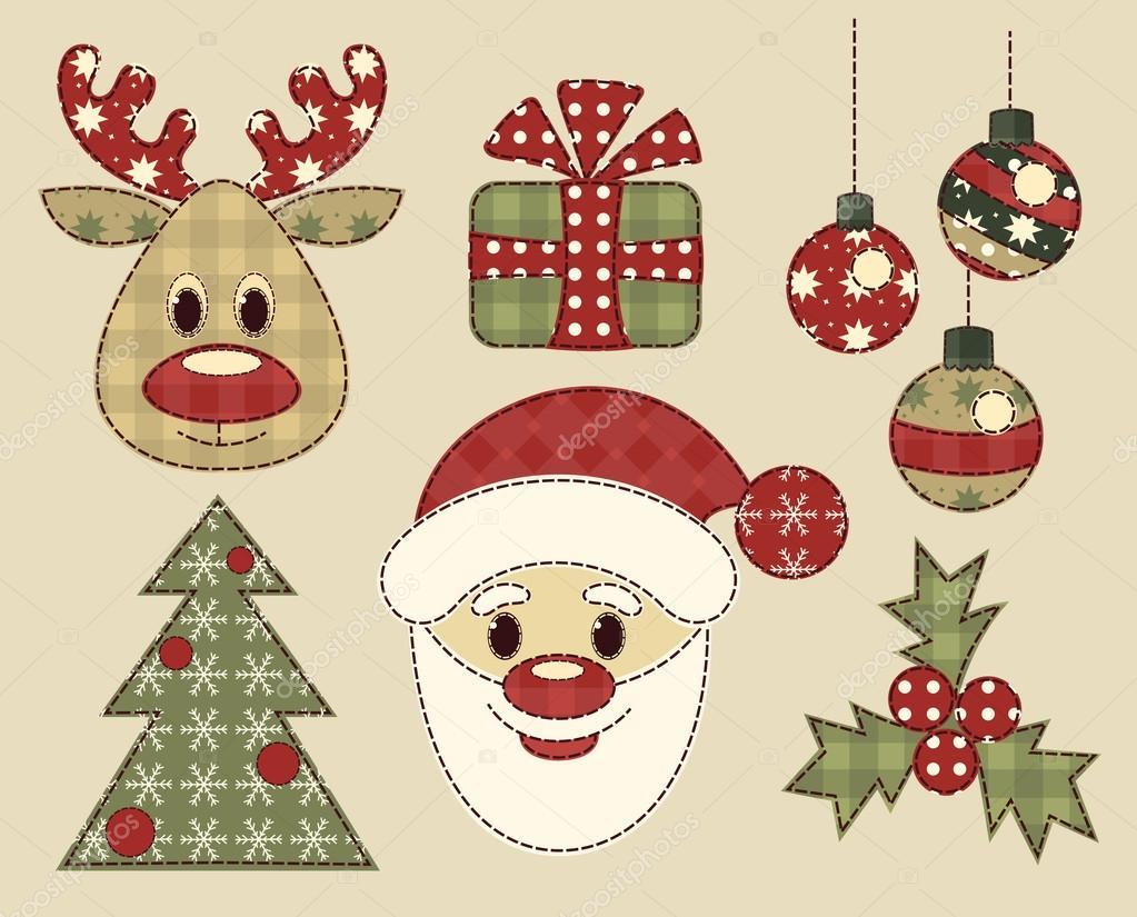 Vintage Bilder Weihnachten.Satz Von Vintage Bilder Für Weihnachten Stockvektor Amalga 15730181