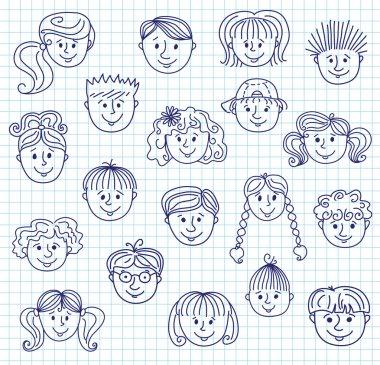 Г'hildren doodle faces