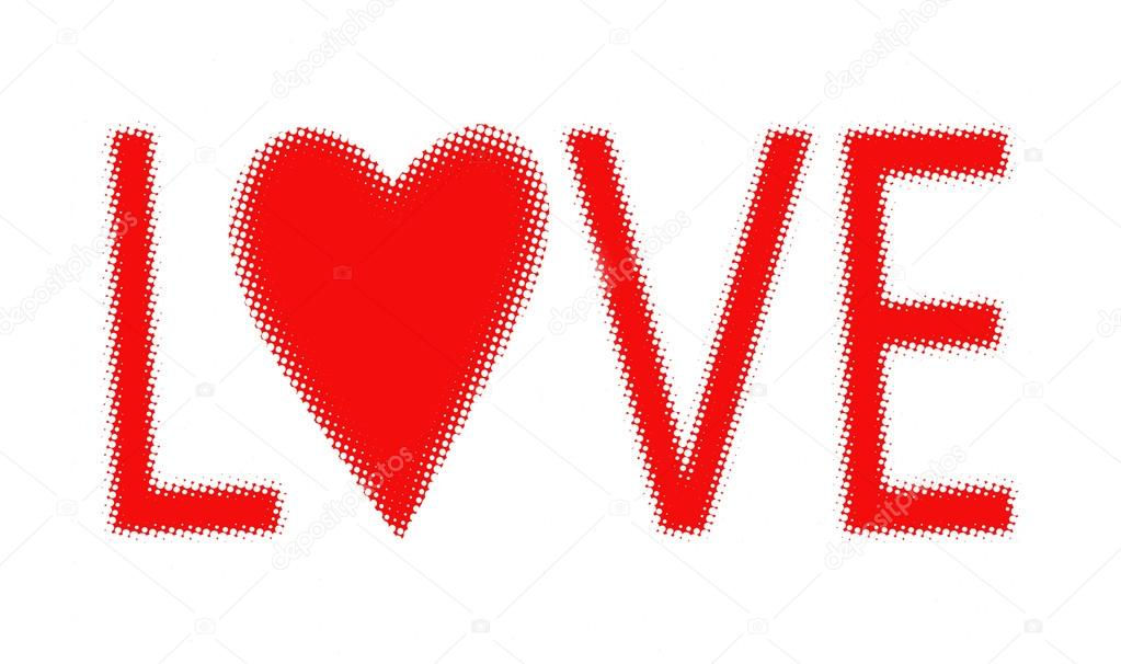 Valentine's day halftone background text stock vector