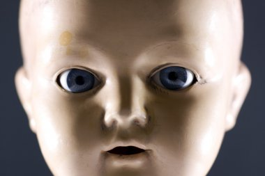 Doll face stock vector