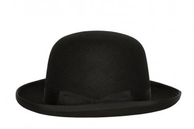 Bowler hat with clipping path