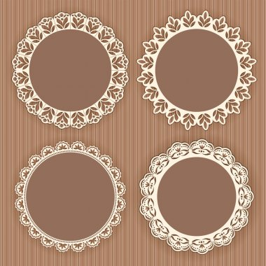 Collection lace frames.