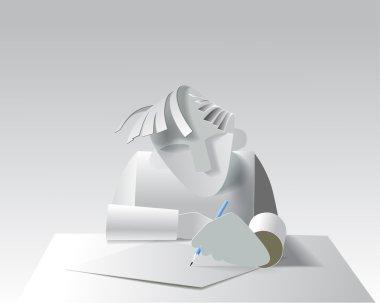 Paper model artist