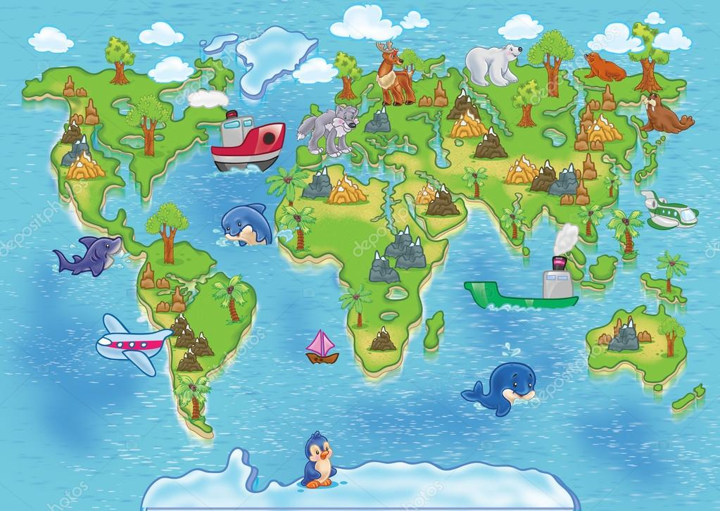 Kids world map — Stock Photo © pleshko74 #30253261