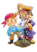 Funny pirate boys
