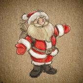 Hand drawing sketch Santa Claus
