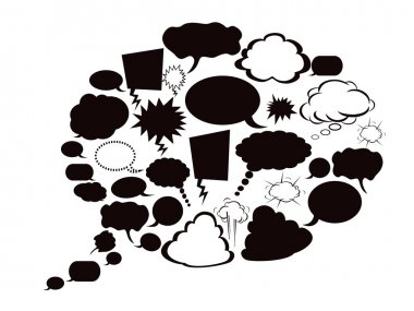 Dialog bubble formed with several speech bubbles clip art vector