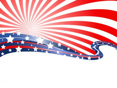 The abstract background of patriotic theme stock vector