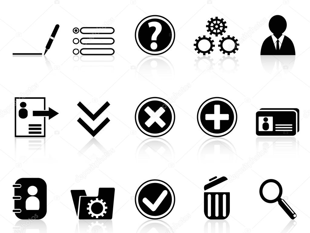 Black internet Account Settings icon — Stock Vector ...