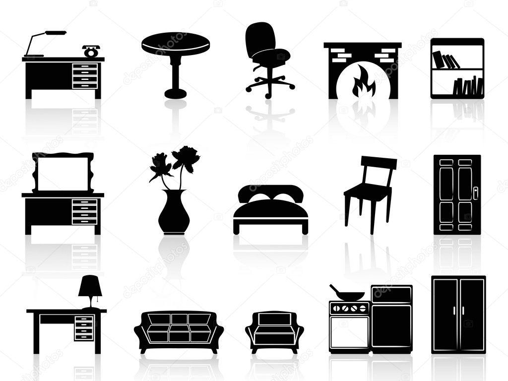 Black simple furniture icon — Stock Vector © huhulin #18538673