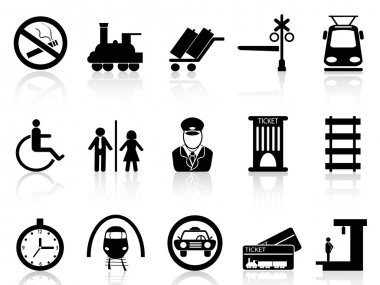 Train station and service icons