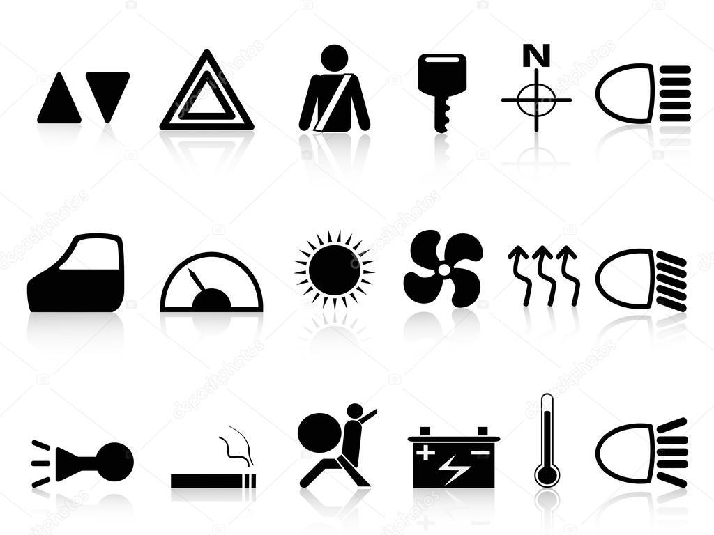 Auto Armaturenbrett Symbole Satz — Stockvektor © huhulin #24762541 | {Armaturenbrett symbole 61}