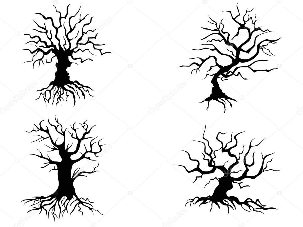 halloween trees — Stock Vector © huhulin #33160685