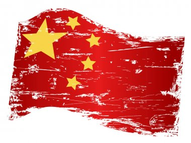 Grungy china flag
