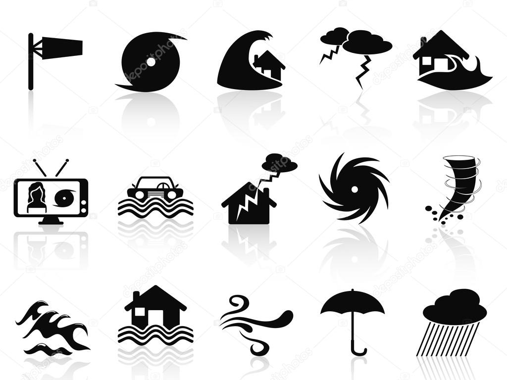 Storm and disaster icons