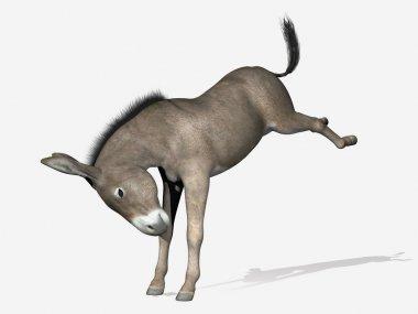 Donkey rearing - 3D render