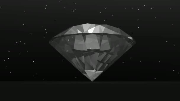 Diamant im Dunkeln - 3D-Renderer