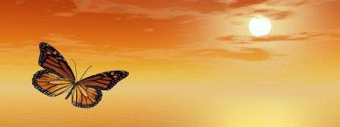 Monarch butterfly - 3D render