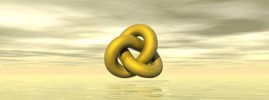 Golden shape - 3D render