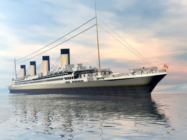 Titanic ship - 3D render