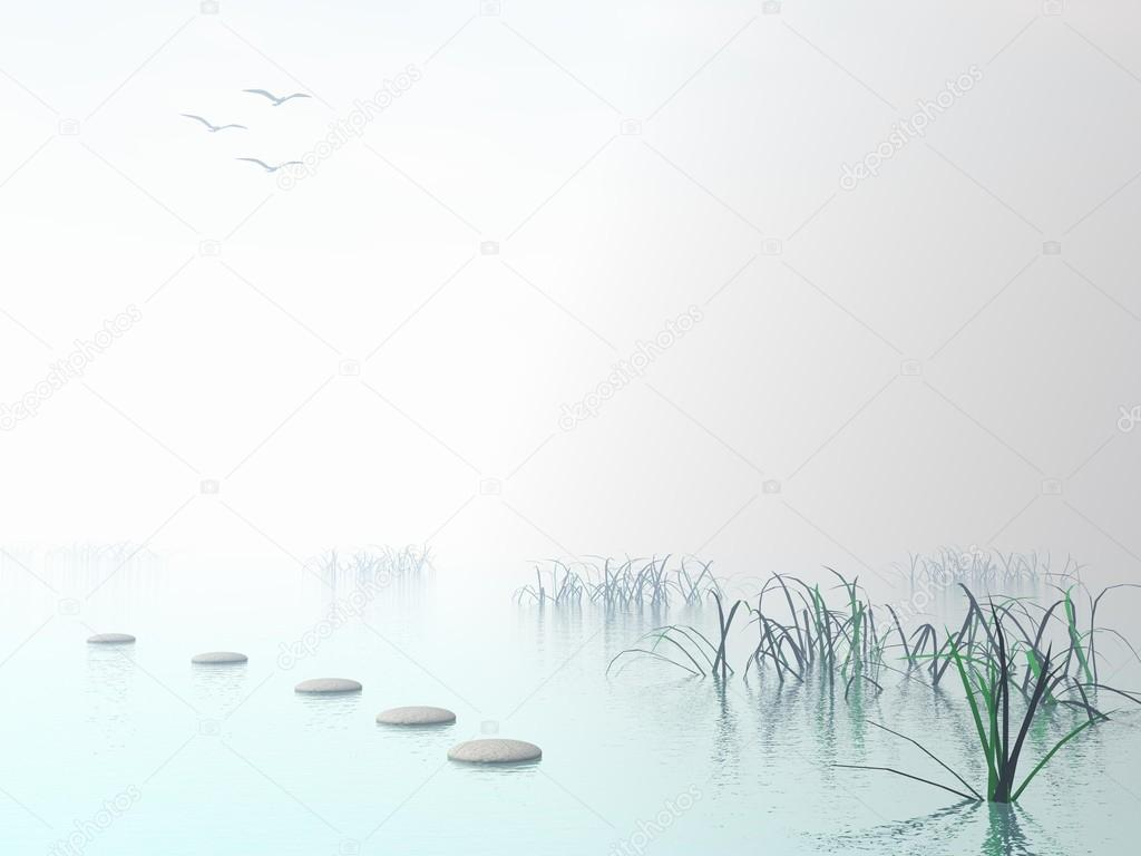 Steps to the sun - 3D render