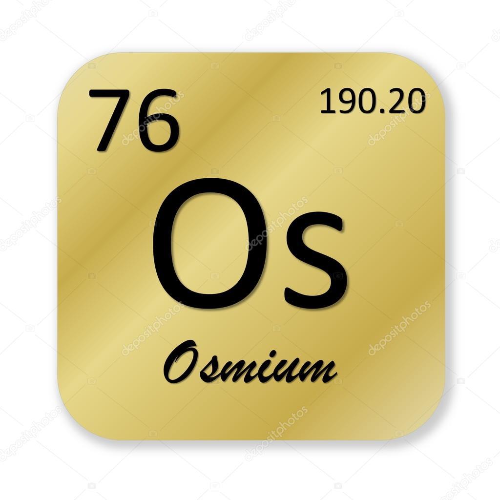 Osmium element stock photo elenarts 48576205 black osmium element into golden square shape isolated in white background photo by elenarts urtaz Images