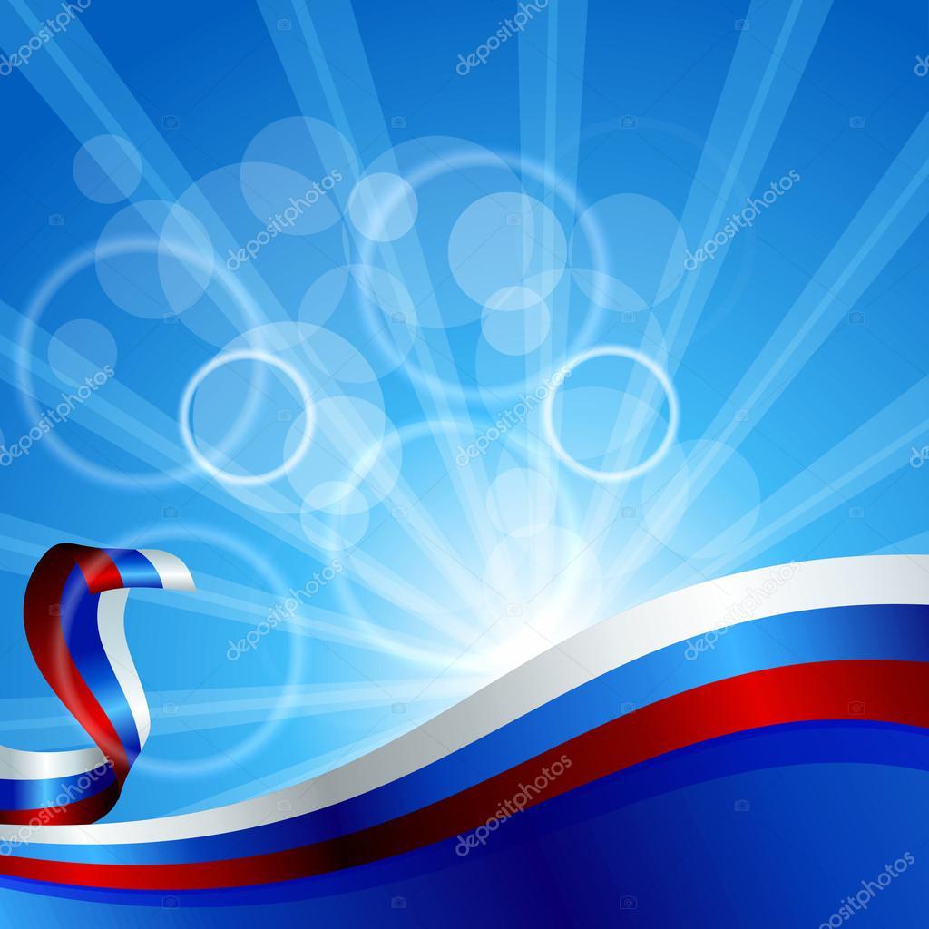 Днем учителя, фон открытки с флагом россии