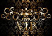 VIP on vintage wallpaper