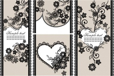 Stock card, lace