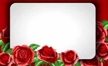 """Картина, постер, плакат, фотообои """"красные розы с полем для текста"""", артикул 39636843"""