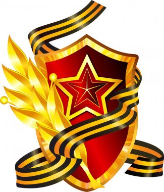 Red shield with a star
