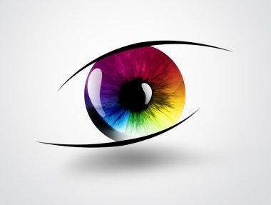 Rainbow eye