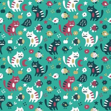 Cat seamless pattern