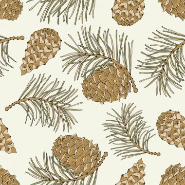 Cone seamless pattern