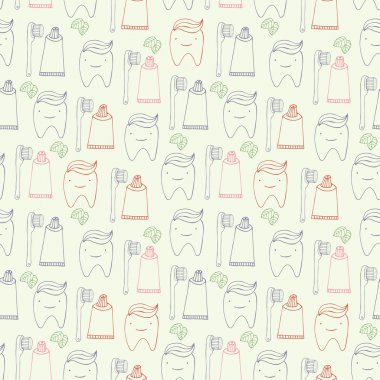 Teeth seamless pattern