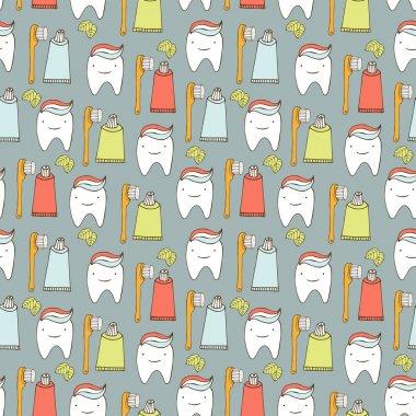 Teeth seamless background