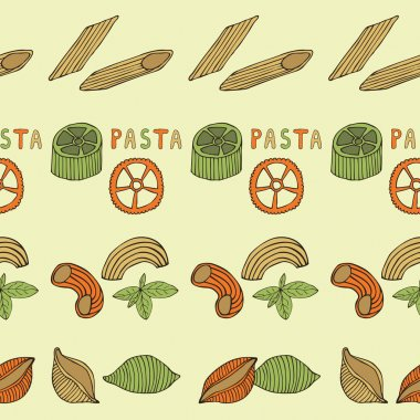 Retro pasta seamless pattern