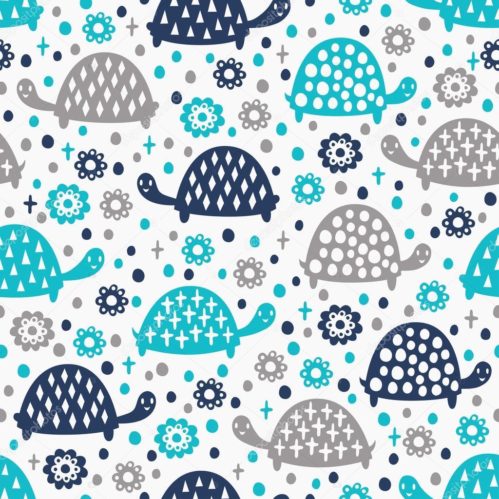 patrón sin costuras tortuga — Vector de stock © texturis #34491625