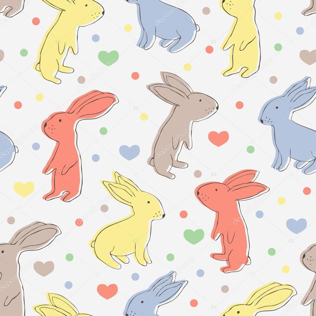 patrón sin costuras conejo — Archivo Imágenes Vectoriales © texturis ...