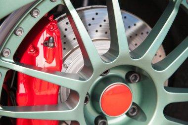 Sport car light alloy wheels