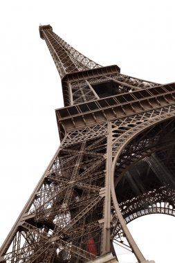 Eiffel Tower of Paris isolated on white