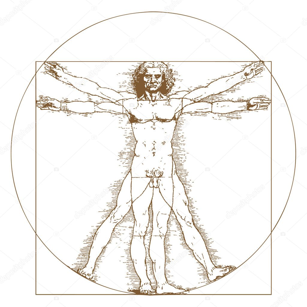 vitruvianische Mensch von Leonardo da vinci — Stockvektor ...