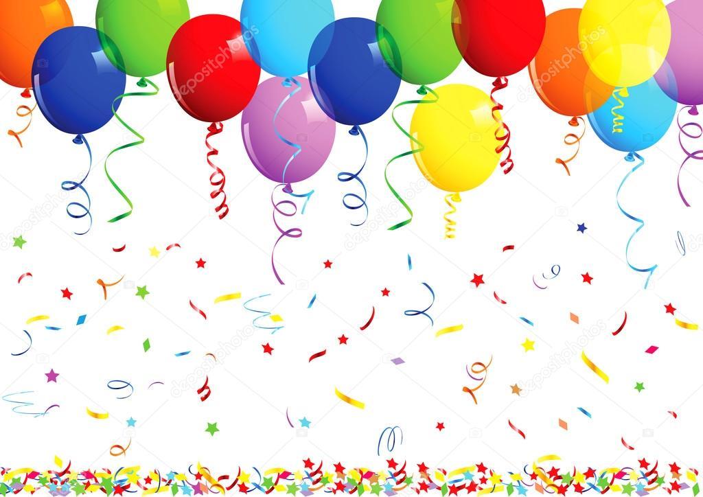 Happy birthday background with balloons stock vector - Bombas de cumpleanos ...
